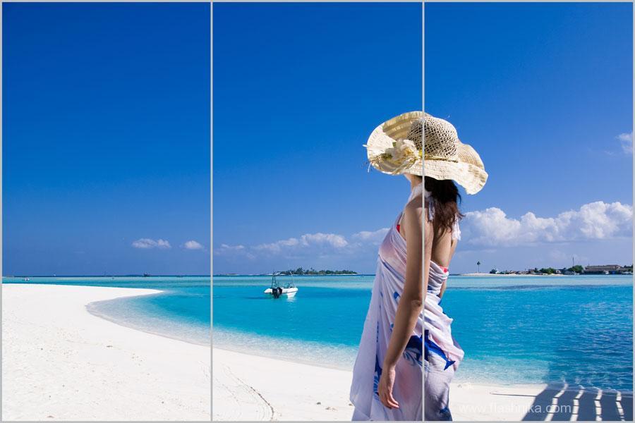 девушка на фоне моря фото