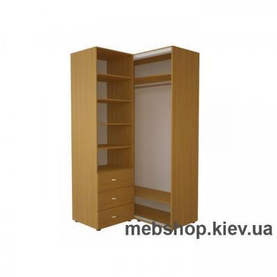 Угловой шкаф-купе Эконом №34(дверь зеркало)