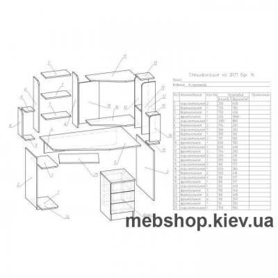 Компьютерный стол - Ника Прометей