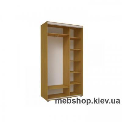 Шкаф-купе Эконом №19 (зеркало вставки ДСП)