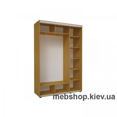 Шкаф-купе Эконом №20 (фотопечать вставки ДСП)