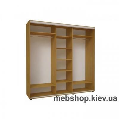 Шкаф-купе Эконом №15 (2 двери ДСП и дверь зеркало)