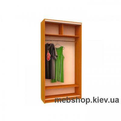 Шкаф-купе Ника 14 (двери зеркало вставки ДСП)