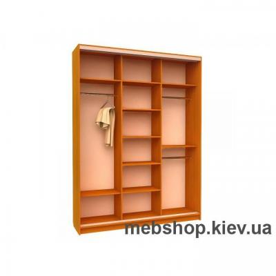 Шкаф-купе Ника 6 (2 двери зеркало и дверь пескоструй)