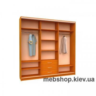 Шкаф-купе Ника 1 (2 двери ДСП и дверь зеркало)