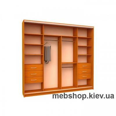 Шкаф-купе Ника 15 (2 двери ДСП и 2 двери пескоструй)