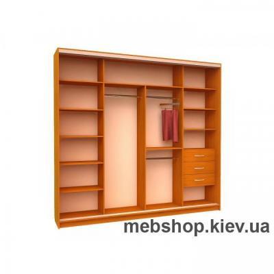 Шкаф-купе Ника 16 (2 двери зеркало и 2 двери пескоструй)