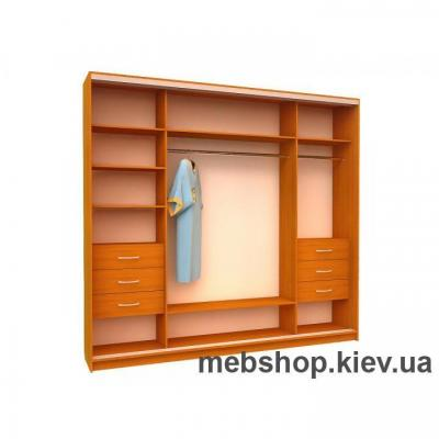 Шкаф-купе Ника 17 (двери пескоструй вставки ДСП)