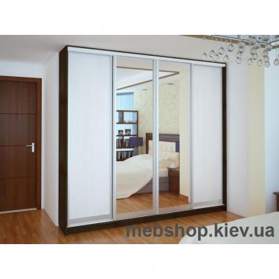 Купить Шкаф-купе Ника 18 (2 двери ДСП и 2 двери зеркало). Фото
