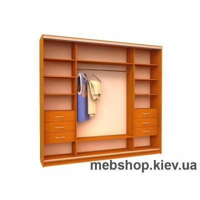 Шкаф-купе Ника 18 (2 двери зеркало и 2 двери пескоструй, глубина 450мм)