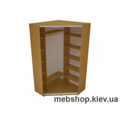 Угловой Шкаф-купе Эконом №32(пескоструй вставки ДСП)