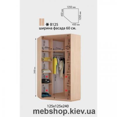 Шкаф-купе Угловой Дом В-125