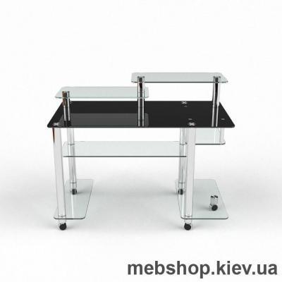 Компьютерный стол из стекла БЦ  Альфа (1200*650)