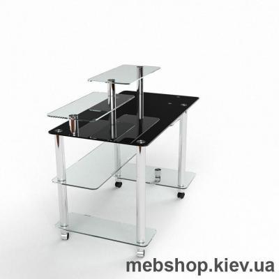 Компьютерный стол из стекла БЦ Альфа(1300*700)
