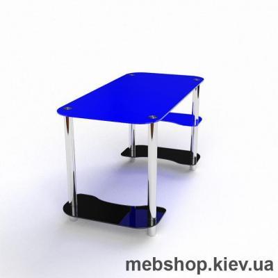 Компьютерный стол из стекла БЦ Антей(1350*650)
