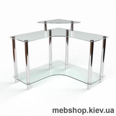 Купить Компьютерный стол из стекла БЦ Вега(1100*1100). Фото