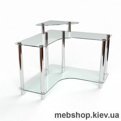 Компьютерный стол из стекла БЦ Вега(1300*1300)