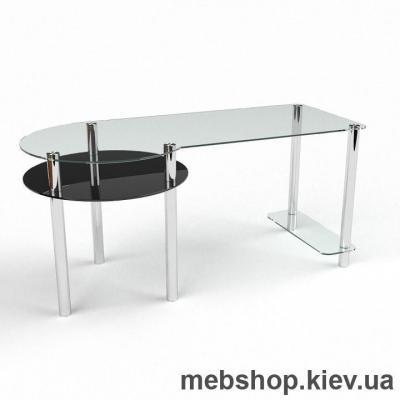 Компьютерный стол из стекла БЦ Виктория(1400*650)