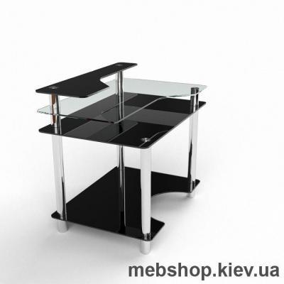 Компьютерный стол из стекла БЦ Денвер(900*650)