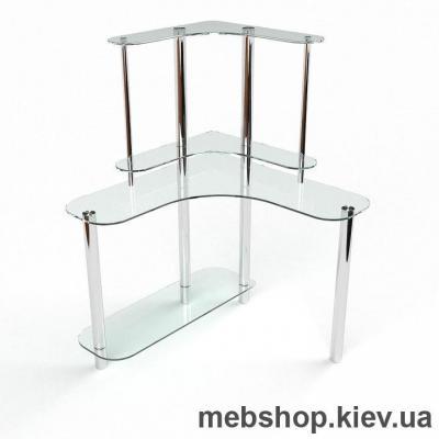 Компьютерный стол из стекла БЦ Диона(1200*1200)