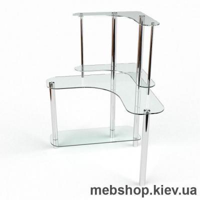 Компьютерный стол из стекла БЦ Диона(1300*1300)