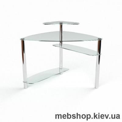Купить Компьютерный стол из стекла БЦ Електра (800*800). Фото