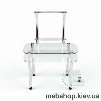 Купить Компьютерный стол из стекла БЦ Ирида (1300*750). Фото
