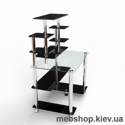 Компьютерный стол из стекла БЦ Калипсо (1100*730)