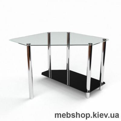 Компьютерный стол из стекла БЦ Каспиан (800*800)