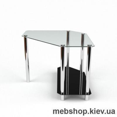 Компьютерный стол из стекла БЦ Каспиан (1100*1100)