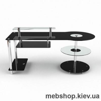 Купить Компьютерный стол из стекла БЦ Комфорт  (1450*700). Фото