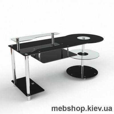 Компьютерный стол из стекла БЦ Комфорт (1550*750)