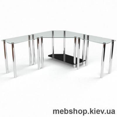 Компьютерный стол из стекла БЦ Кредо (1700*1700)