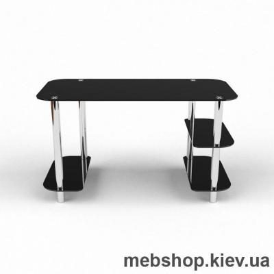 Купить Компьютерный стол из стекла БЦ Кросслайн (1150*550). Фото