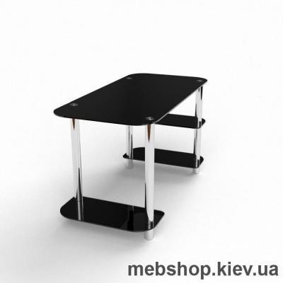 Компьютерный стол из стекла БЦ Кросслайн (1350*650)