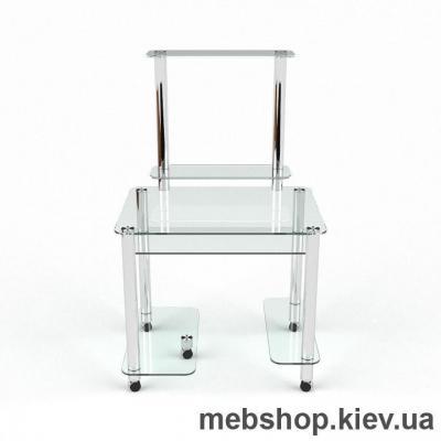Купить Компьютерный стол из стекла БЦ Люкс (1100*730). Фото