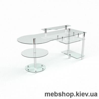 Компьютерный стол из стекла БЦ Марион (1450*700)