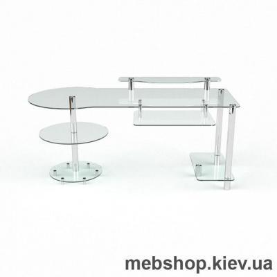 Купить Компьютерный стол из стекла БЦ Марион (1450*700). Фото