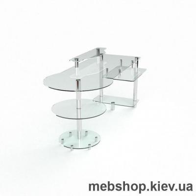 Компьютерный стол из стекла БЦ Марион (1650*800)