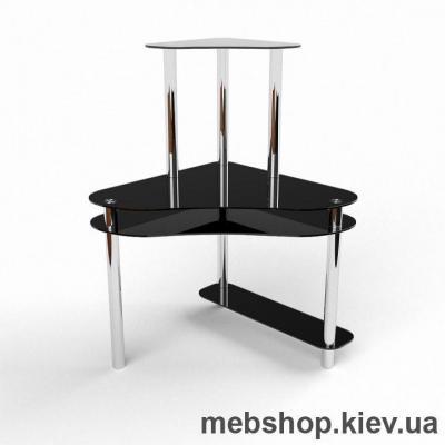 Купить Компьютерный стол из стекла БЦ Посейдон (900*900). Фото