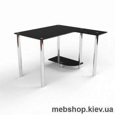 Купить Компьютерный стол из стекла БЦ Протей(900*900). Фото