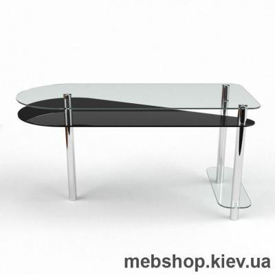 Купить Компьютерный стол из стекла БЦ Рамундо(1200*500). Фото