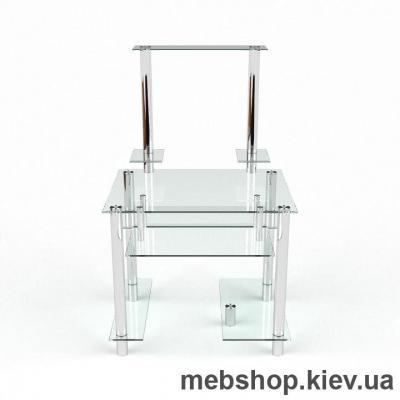 Купить Компьютерный стол из стекла БЦ Рондо (1100*970). Фото