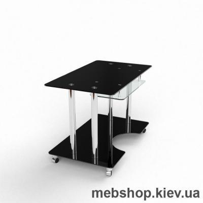 Компьютерный стол из стекла БЦ Саванна (1300*750)