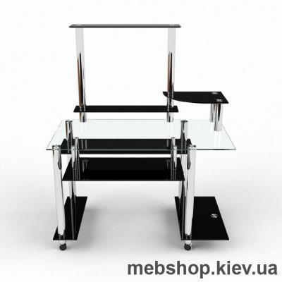 Купить Компьютерный стол из стекла БЦ Сенатор (1400*880). Фото