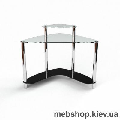Купить Компьютерный стол из стекла БЦ Софт (900*900). Фото