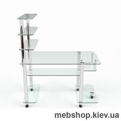 Купить Компьютерный стол из стекла БЦ Терри (1300*700). Фото