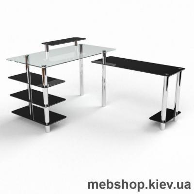 Купить Компьютерный стол из стекла БЦ Тритон (1200*1500). Фото