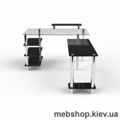 Компьютерный стол из стекла БЦ Тритон (1400*1750)