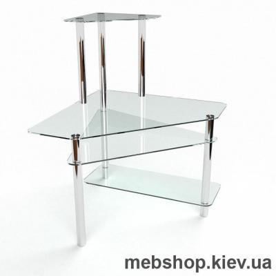 Компьютерный стол из стекла БЦ Фемида (1000*1000)